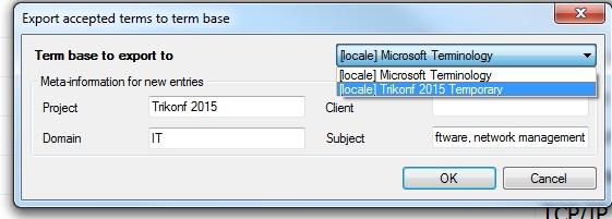 MemoQExtraction-Exporter vers une base de terminologie